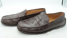 TOD'S Made in Italy Mens Penny Loafers Sz 9 Brown Leather Slip-Ons Driving Moc