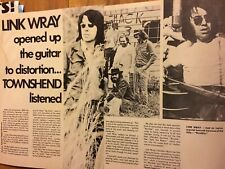 Link Wray, Two Page Vintage Clipping