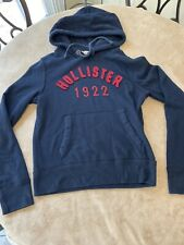 Hollister Women's Hoodie Sweater Pullover Navy Blue Sz Small