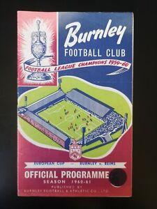 1960/1 BURNLEY V REIMS (EC)