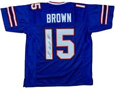 John Brown autographed signed inscribed jersey NFL Buffalo Bills PSA COA