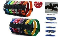 Mulhue 14 Pack Puppy Id Collars Nylon Soft Identification Colorful Adjustable Br