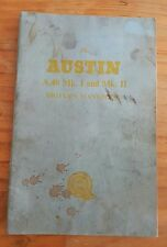 VINTAGE AUSTIN A40 MK 1 AND MK 2 DRIVERS CAR HANDBOOK