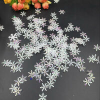 DIY 300pcs Classic Snowflake Ornaments Christmas Tress Holiday Party Home Decor