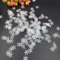DIY 300pcs Classic Snowflake Ornaments Christmas Tress Holiday Party Home Decor