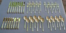 48 Pc, Complete Set for 8 Oneida Heirloom Damask Rose Sterling Silver Flatware