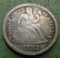1882 Seated Liberty  Bust Dime  #BD82