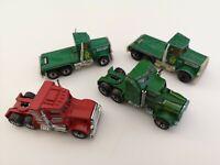 4 x Matchbox Lesney Vintage 1981 Diecast Trucks - Playworn - See Details