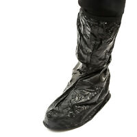 PVC Waterproof Rain Boot Shoe Cover Black Reusable Overshoe Bicycle Bike Cycling