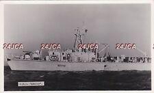 "Royal Navy Real Photo. HMS ""Aveley"" Inshore Individual Minehunter. c 1955"