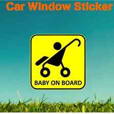 Baby on Board Sticker - car van window bumper boy girl pram mum dad face toddler