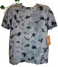 Xios Mens Gray Logo Design T-Shirt Cotton Sz XXL Tie Dye Design Graphic Tee NEW