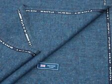 100% Wolle Tweed Stoff, Mix blau / BLASS DONEGAL fleck-made in England 2metres