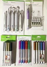 Lot Of 5 Cricut Weeding Tools Metallic Pens Glitter Pens & Control Knife+Blades