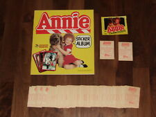 Annie 1981 empty Panini Sticker album, all 120 loose stickers & packet...