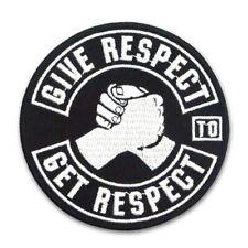 Aufnäher Aufbügler Patch Biker give Respect MC Support Motorrad Sprüche Kutte