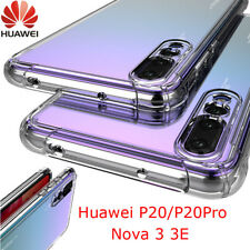 For Huawei P20 Pro/Lite Nova 3i Clear Shockproof Slim Silicone TPU Cover Case FW