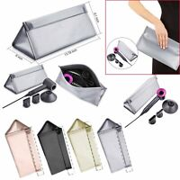 Premium Storage Case Travel Cover Bag For Dyson Supersonic Hair Dryer Silver New