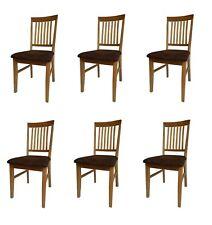 6 Esszimmerstühle aus Eiche Massivholz mit Sitzbezug - Classico 4