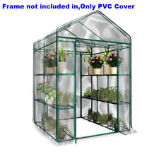 PVC Cover Plastic Garden Green House with multi Level Shelves Walk In Greenhouse