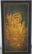 Nagasamy Ramachandran oil painting signed framed Traditional Indian India Art