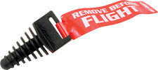 FMF Racing 012875 Exhaust Wash Plug with Streamer Black for 2 Stroke