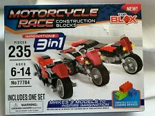 Motorcycle Race  Construction Blocks Compatible w/ Other Brands 235 pieces