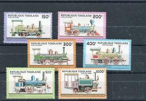 Republik Togo Mi.-Nr. 2487-2492 postfrisch Eisenbahn/railway Thematik - b7891