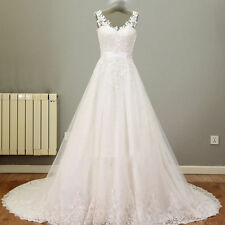 New White/Ivory Lace Wedding Dress Bridal Gown Custom Size 2 4 6 8 10 12 14 16 +