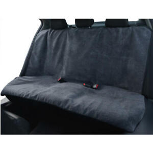 Sweat Absorbing Car Seat Cover Towel for Rear Bench SUV Van Truck - Gray/ Black