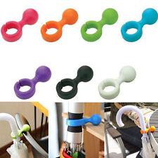 Lovely 2Pcs Plastic Handy Mini Umbrella Hanger Holder Stand Support Rack Mount