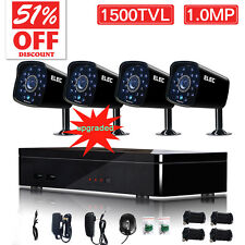 ELEC 4CH 960H 1500TVL HDMI 1080P DVR IR Outdoor CCTV Home Security Camera System