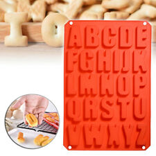 Red Silicone Letter Alphabet Pudding Bakeware Mould Cake Chocolate Ice Make Mold