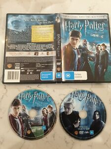 Harry Potter And The Half-Blood Prince 2-Disc Special Edition 🎬 DVD Region 4 🎬