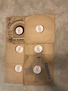 Six - 16 Inch Transcription Armed Forces Radio Service Albums in covers