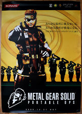 Metal Gear Solid Portable Ops RARE PSP 51.5 cm x 73 cm Japanese Promo Poster #2