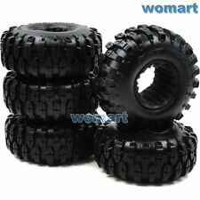 5pc RC 1.9 Rock Crawler Tires 108mm For 1:10 RC 4WD Axial 1.9 Beadlock alloy Rim