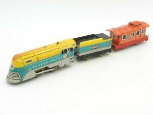 Hafner Wyandotte Trains O Gauge Clockwork Engine,Tender,and Caboose Works 115041