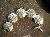 ~Silpada Sterling Silver Ancient Scroll Swirl Disk Bracelet B2092~