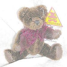 Clemens Miniatur Teddy aus dunkelbraunem Mohair 10 cm