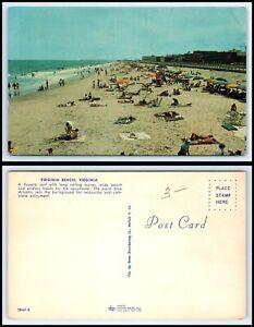 VIRGINIA Postcard - Virginia Beach, Bathers, Beach & Surf Q11
