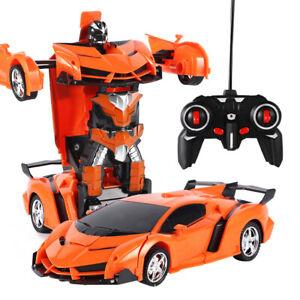 2 in 1 Transformer RC Robot Car Remote Control Kids Boys Toys Xmas Gift 1:18 UK
