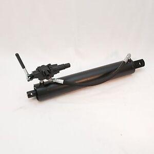 "4"" Bore x 24"" Stroke Hydraulic Log Splitter Cylinder w/ Detent Valve & Hose Kit"