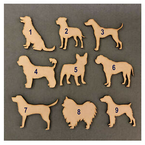 Wooden MDF Dog Craft Shapes - 47 BREEDS Available - Blanks,Gift,Tags,Scrapbook