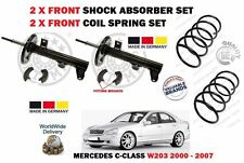 FOR MERCEDES W203 C CLASS 2000-2007 2X FRONT SHOCK ABSORBER SET + 2X COIL SPRING