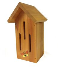 Natural Cedar Butterfly House: Hand-Painted Butterfly Box for Garden