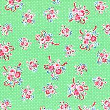 Per 1/2Yd Shabby Flower Sugar Sweet Carnival Mint Ribbon Bouquet 31378 60 Lecien