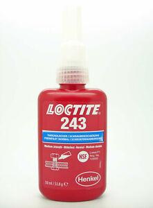 Genuine EU Make Loctite 243 x 50ml Medium strength Threadlocker