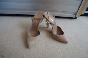 Saint Laurent Paris Nude Suede heels sz 39/UK 6 worn once