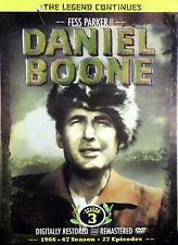Daniel Boone with Fess Parker Season 3 Boxed SET 8 NEW DVDs 1966-67 Remastered